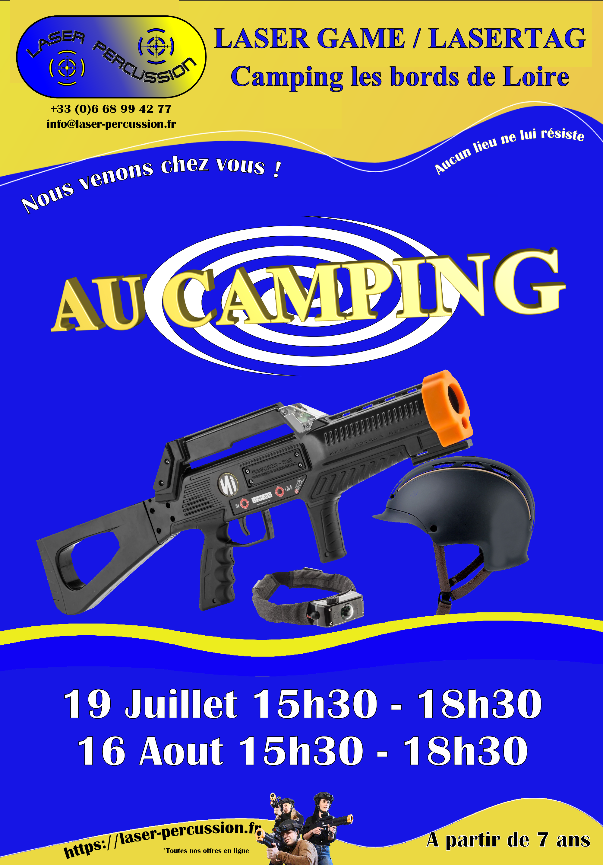 camping au bord de loire laser game au camping sur le camping. Black Bedroom Furniture Sets. Home Design Ideas